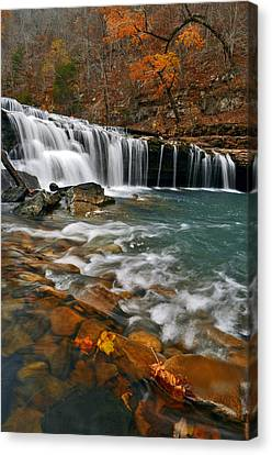 Autumn At Richland Falls Canvas Print by Jeff Rose