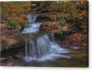 Autumn At Ricketts Glen Canvas Print by Sharon Batdorf
