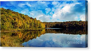 Autumn At Sailboat Cove Canvas Print by Andee Design