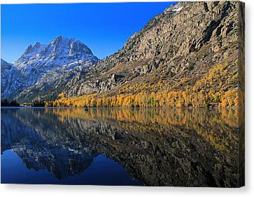 Autumn At Silver Lake Canvas Print by Donna Kennedy