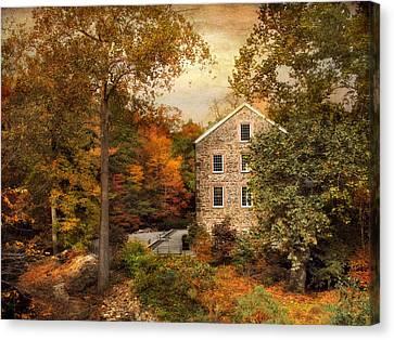 Autumn At Stone Mill Canvas Print