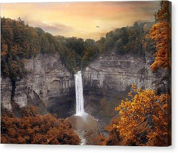 Autumn At Taughannock Canvas Print by Jessica Jenney