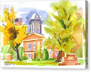 Autumn At The Courthouse Canvas Print by Kip DeVore