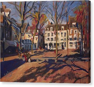 Autumn At The Onze-lieve-vrouweplein Maastricht Canvas Print