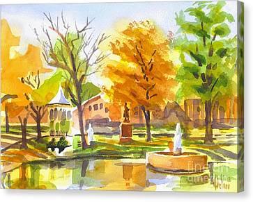 Autumn At The Villa Canvas Print by Kip DeVore