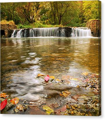 Autumn At Valley Creek Canvas Print by Rima Biswas