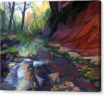 Autumn At West Fork Canvas Print by Russell Johnson