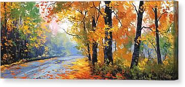 Oak Canvas Print - Autumn Backlight by Graham Gercken