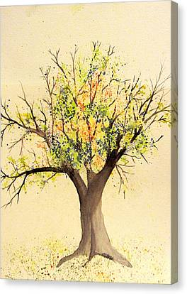 Autumn Backyard Tree Canvas Print
