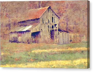 Autumn Barn Canvas Print by Ryan Burton