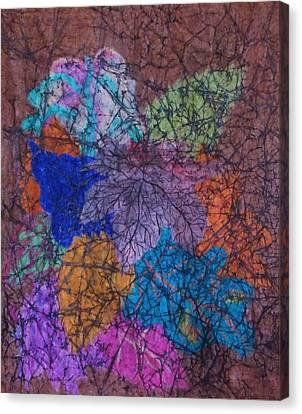 Autumn Batik Canvas Print by Ellen Levinson