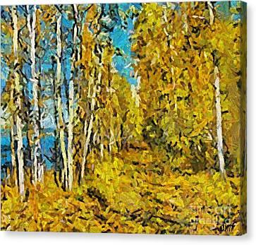 Lake Canvas Print - Autumn Beauty by Dragica  Micki Fortuna