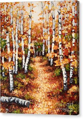 Autumn Birch Trail Canvas Print