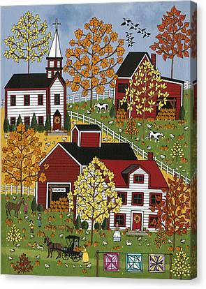Autumn Blessings Canvas Print by Medana Gabbard