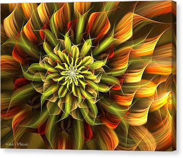 Autumn Bloom Canvas Print by Linda Whiteside