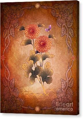 Autumn Blooming Mum Canvas Print by Bedros Awak