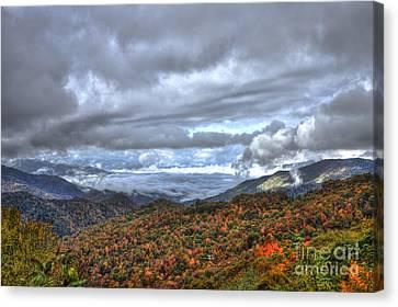 Smokey Mountains Canvas Print - Autumn Blue Ridge Parkway North Carolina by Reid Callaway