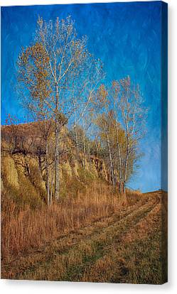 Autumn Bluff Painted Canvas Print by Nikolyn McDonald