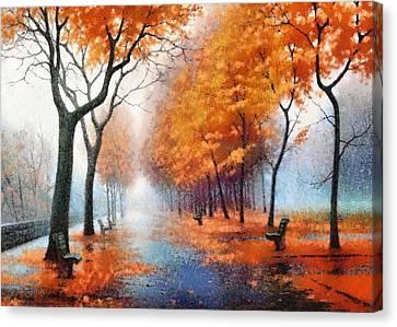 Autumn Boulevard Canvas Print