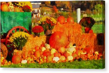 Reds Of Autumn Canvas Print - Autumn Bounty by Dan Sproul