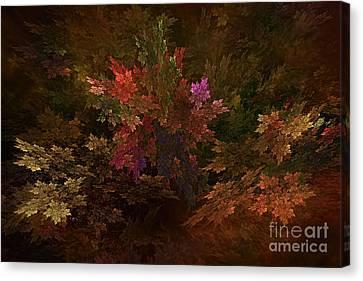 Canvas Print featuring the digital art Autumn Bouquet by Olga Hamilton