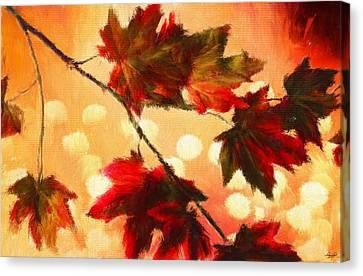 Autumn Branch Canvas Print by Lourry Legarde
