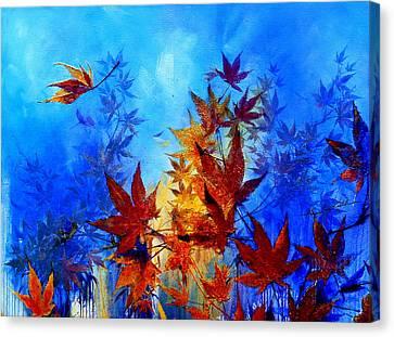 Wind Blown Tree Canvas Print - Autumn Breeze by Hanne Lore Koehler