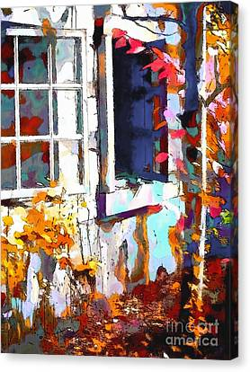 Autumn Breeze Through Open Windows    Windows Canvas Print by Barbara D Richards