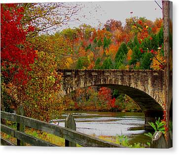 Autumn Bridge 1 Canvas Print