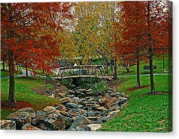 Canvas Print featuring the photograph Autumn Bridge by Andy Lawless