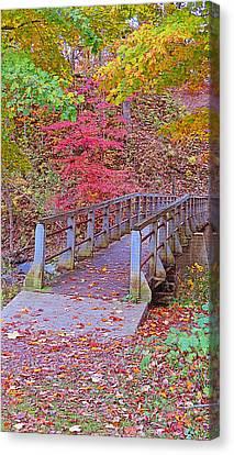 Autumn Bridge Canvas Print by Kay Novy