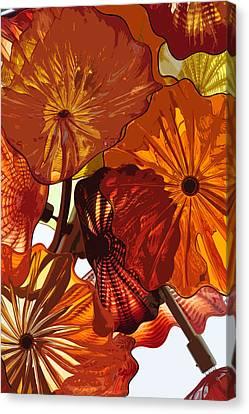 Canvas Print featuring the digital art Autumn Burst by Kirt Tisdale