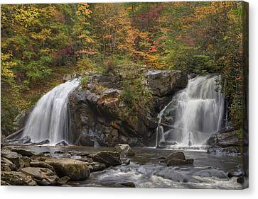 Autumn Cascades Canvas Print by Debra and Dave Vanderlaan
