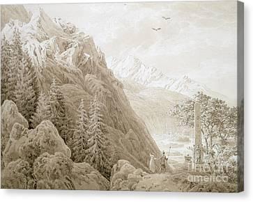 Autumn Canvas Print by Caspar David Friedrich