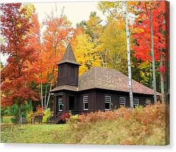 Canvas Print featuring the photograph Autumn Chapel by Elaine Franklin