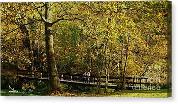 Autumn Childhood Canvas Print