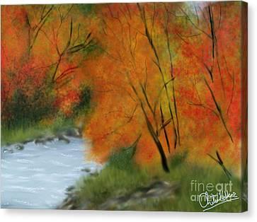 Autumn Canvas Print by Chitra Helkar