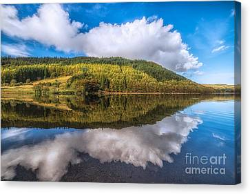 Fall Grass Canvas Print - Autumn Clouds by Adrian Evans