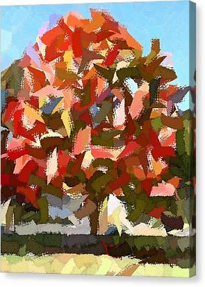 Autumn Color Riot Abstract Canvas Print