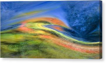 Autumn Color Swirl Canvas Print by Michael Hubley