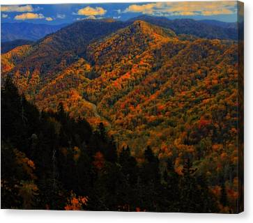 Gatlinburg Tennessee Canvas Print - Autumn Colors Along The Smoky Mountains by Dan Sproul