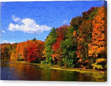 Autumn Colors Canvas Print by Donna Lorello