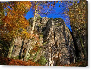 Autumn Colors In The Saxon Switzerland Canvas Print