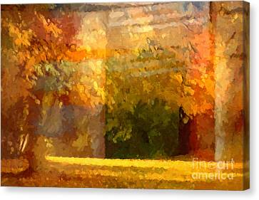 Autumn Colors Painterly Canvas Print by Lutz Baar