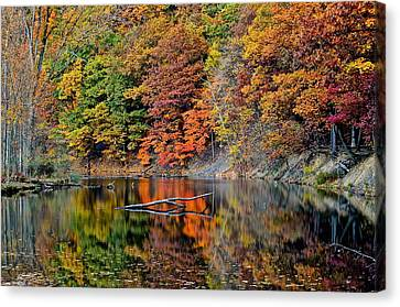 Autumn Colors Reflect Canvas Print by Frozen in Time Fine Art Photography