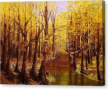 Autumn Cool Canvas Print by Mike Caitham