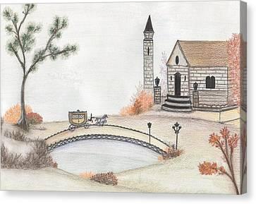 Autumn Countryside   Canvas Print by Christine Corretti