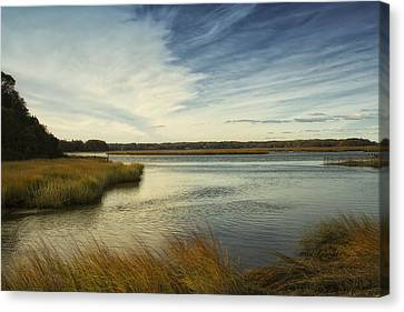 Autumn Creek Canvas Print by Bob Retnauer