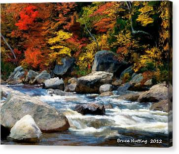 Canvas Print featuring the painting Autumn Creek by Bruce Nutting