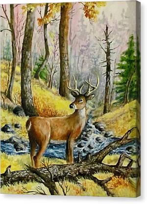 Autumn Crossing Canvas Print